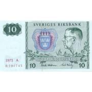 Švedija. 1975 m. 10 kronų. aUNC