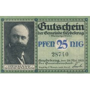 Šilutė. 1921 m. 25 pfennigai
