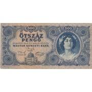 Vengrija. 1945 m. 500 pengo
