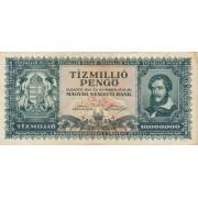 Vengrija. 1945 m. 10.000.000 pengo