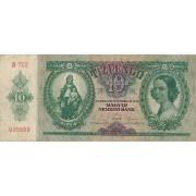 Vengrija. 1936 m. 10 pengo