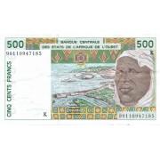 Senegalas. 1999 m. 500 frankų