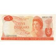 Naujoji Zelandija. 1967-1981. 5 dollars. P165c
