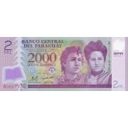 Paragvajus. 2008 m. 2.000 gvaranių. P228a. UNC