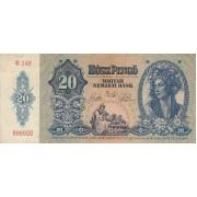 Vengrija. 1941 m. 20 pengo