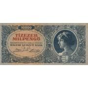 Vengrija. 1946 m. 10.000 pengo
