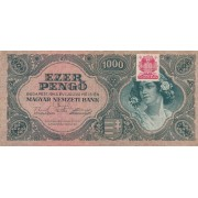 Vengrija. 1945 m. 1.000 pengo
