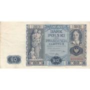 Lenkija. 1936 m. 20 zlotų