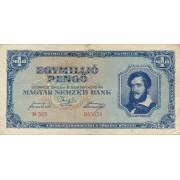 Vengrija. 1945 m. 1.000.000 pengo
