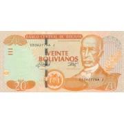 Bolivija. 1986 (2015) m. 20 bolvianų. P244. UNC