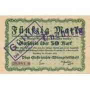 Vokietija / Chemnicas. 1922 m. 50 markių