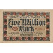 Vokietija / Štutgartas. 1923 m. 1.000.000 markių