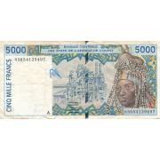 Dramblio Kaulo Krantas. 2003 m. 5.000 frankų