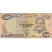 Zambija. 1991 m. 500 kvačų
