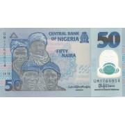 Nigerija. 2018 m. 50 nairų