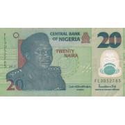 Nigerija. 2019 m. 20 nairų
