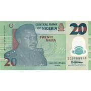Nigerija. 2017 m. 20 nairų