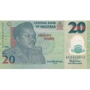Nigerija. 2016 m. 20 nairų