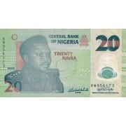 Nigerija. 2009 m. 20 nairų