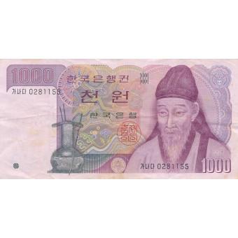 Pietų Korėja. 1983 m. 1.000 vonų
