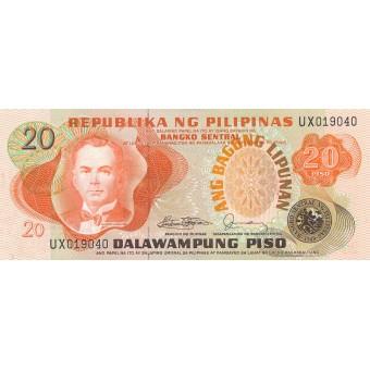 Filipinai. 1978 m. 20 pesų. P162c. UNC