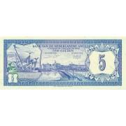 Nyderlandų Antilai. 1984 m. 5 guldenai. UNC