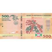 Burundis. 2015 m. 500 frankų. UNC