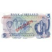 Šiaurės Airija. 1978 m. 5 svarai. PAVYZDYS. UNC