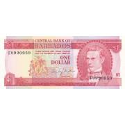 Barbadosas. 1973 m. 1 doleris. P29. UNC