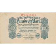Vokietija. 1922 m. 100 markių