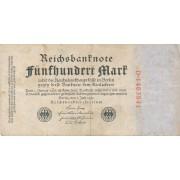 Vokietija. 1922 m. 500 markių
