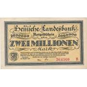 Vokietija / Darmštatas. 1923 m. 2.000.000 markių