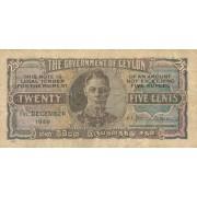 Ceilonas. 1949 m. 25 centai