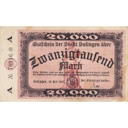 Vokietija / Zolingenas. 1923 m. 20.000 markių