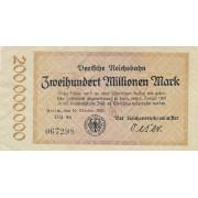 Vokietija. 1923 m. 200.000.000 markių