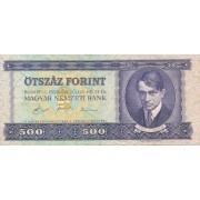 Vengrija. 1990 m. 500 forintų