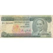 Barbadosas. 1975 m. 5 doleriai. P32