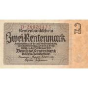 Vokietija. 1937 m. 2 rentenmarkės