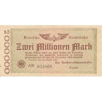 Vokietija. 1923 m. 2.000.000 markių