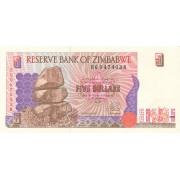 Zimbabvė. 1997 m. 5 doleriai