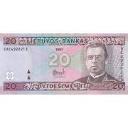 Lietuva. 1997 m. 20 litų. Serija: EAE