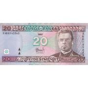 Lietuva. 1997 m. 20 litų. Serija: EAB