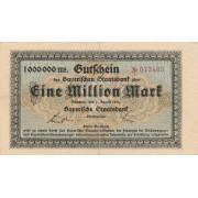 Vokietija / Miunchenas. 1923 m. 1.000.000 markių