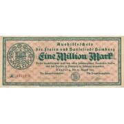 Vokietija / Hamburgas. 1923 m. 1.000.000 markių