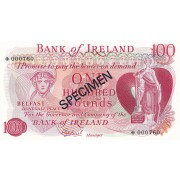 Šiaurės Airija. 1978 m. 100 svarų. PAVYZDYS. UNC