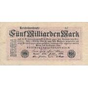 Vokietija. 1923 m. 5.000.000.000 markių