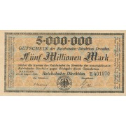 Vokietija / Dresdenas. 1923 m. 5.000.000 markių
