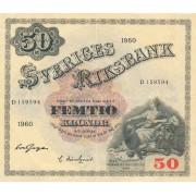 Švedija. 1960 m. 50 kronų