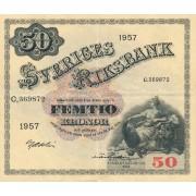 Švedija. 1957 m. 50 kronų