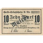 Karaliaučius. 1918 m. 10 markių. Pavyzdys. RETAS